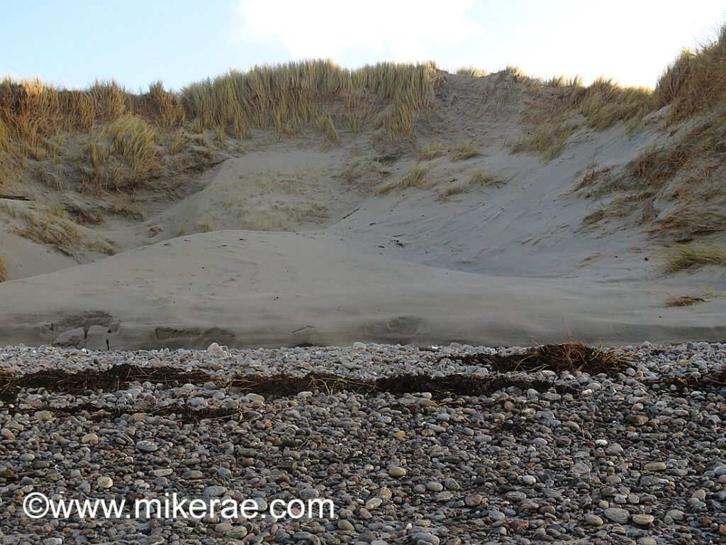 Storm breach in the dune Baleshare beach